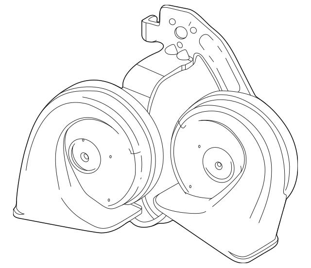 OEM Dual Tone Silverado Horn Installed
