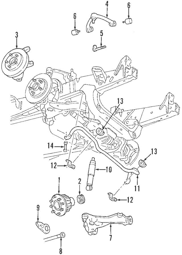 Genuine OEM 2001-2004 Ford Shock Absorber AU2Z-18V124-BF