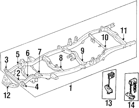 FRAME & COMPONENTS for 1994 Toyota Pickup