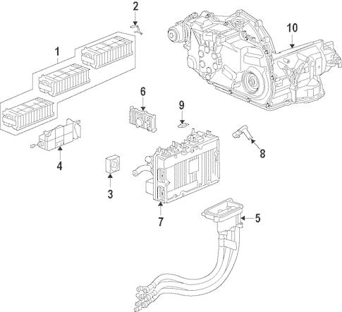 OEM 2009 Chevrolet Malibu Hybrid Components Parts