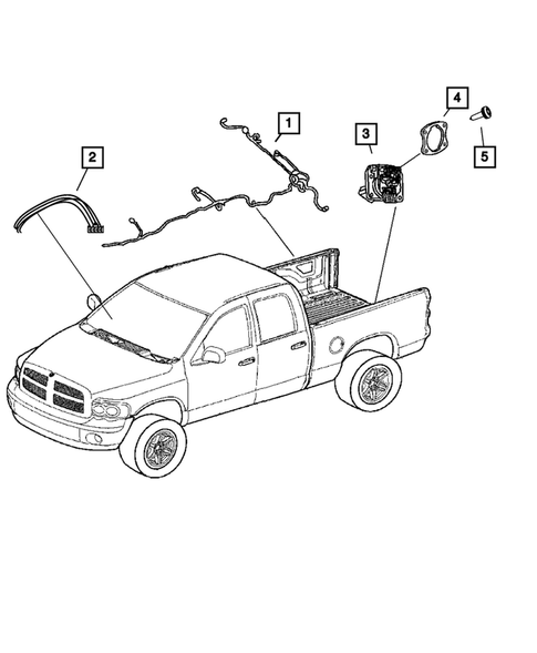 Wiring-Body and Accessories for 2009 Dodge Ram 2500