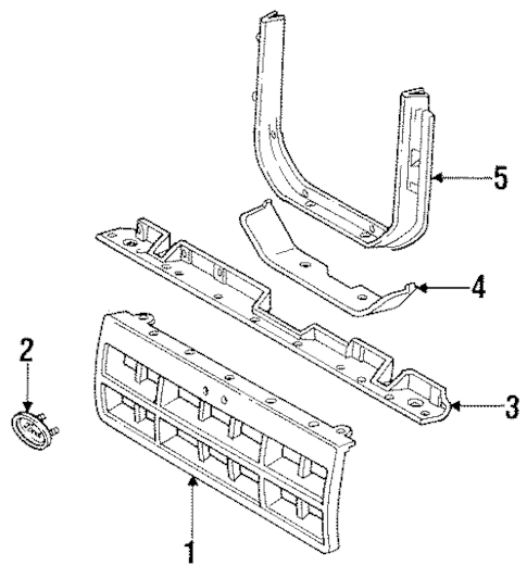 GRILLE & COMPONENTS for 1990 Ford Ranger
