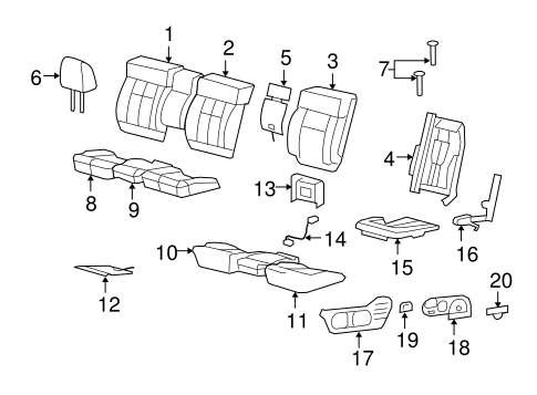 FRONT SEAT COMPONENTS for 2004 Ford F-150
