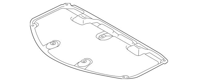 2012-2014 Toyota Camry Hood Insulation Pad 53341-06250