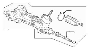 2018-2020 Honda ACCORD SEDAN Rack Assembly, Power Steering
