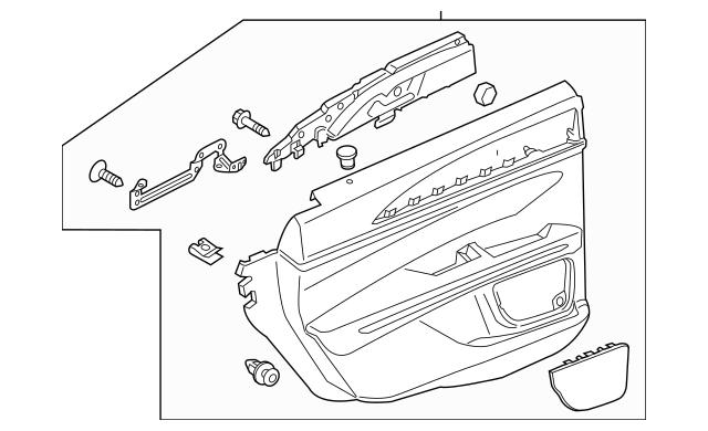 2015-2016 Lincoln MKZ Door Trim Panel DP5Z-5427406-BR