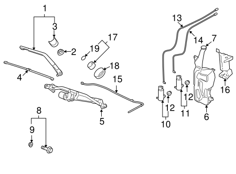 Wiper & Washer Components for 2007 Chevrolet Tahoe