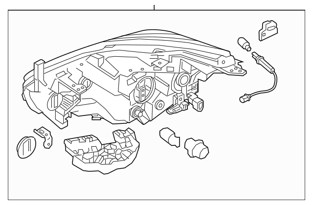 2015-2018 Nissan Murano Headlamp Assembly 26060-9UE5C