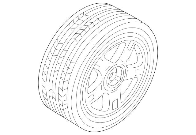Genuine Spare Wheel for 2001-2005 Audi Allroad Quattro