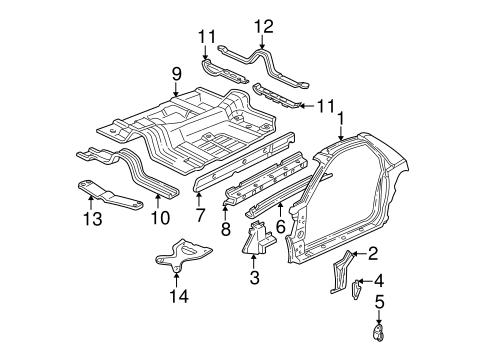 OEM 1995 Chevrolet Camaro Floor & Rails Parts