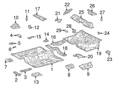 Genuine OEM Floor & Rails Parts for 2001 Toyota 4Runner