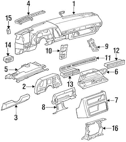 12333141 Instrument Panel for 1989 Chevrolet Cavalier : GM