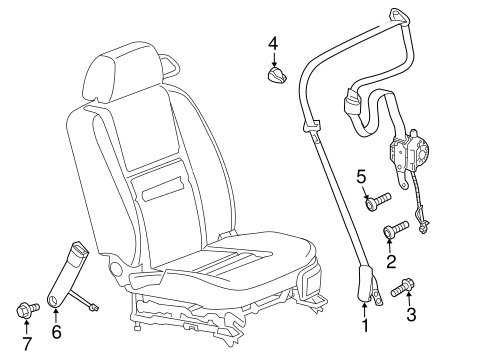 OEM 2006 Chevrolet Monte Carlo Front Seat Belts Parts