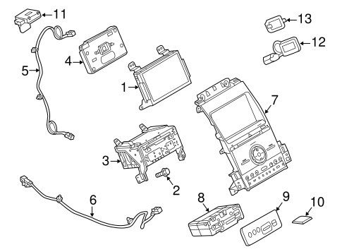 Navigation System Components for 2015 Ford Taurus