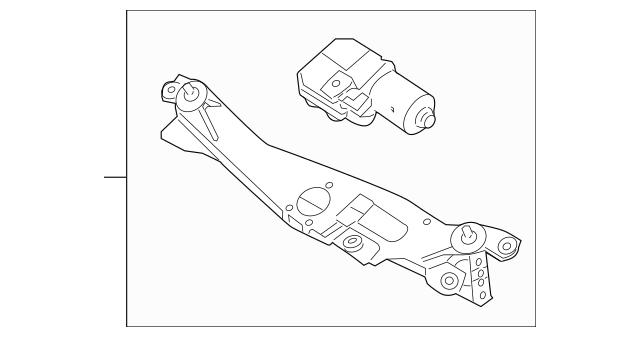 2009-2014 Hyundai Genesis Wiper Transmission 98100-3M000