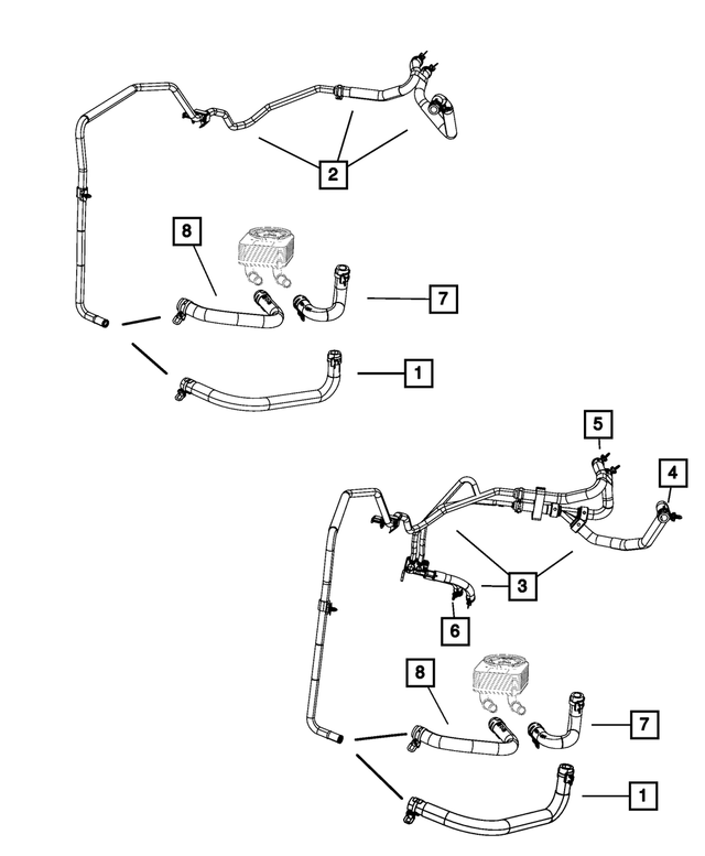 2010 Dodge Journey Heater Supply And Return Hose And Tube