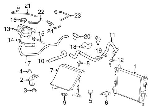 Radiator & Components for 2008 Pontiac Solstice