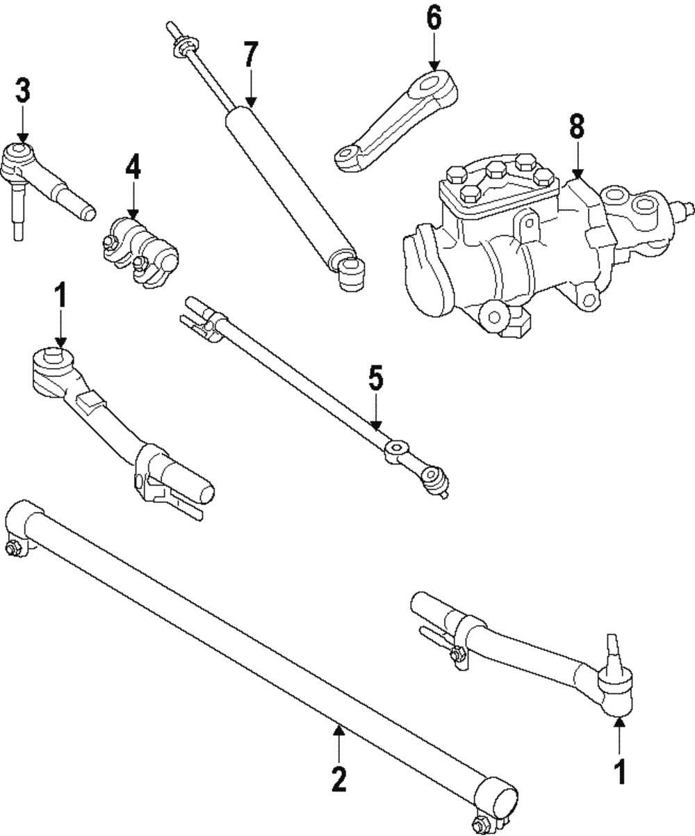medium resolution of genuine ford center link ac3z 3304 b