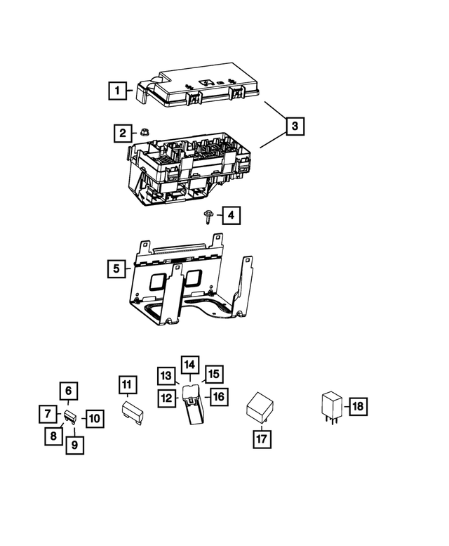 2017-2018 Jeep Totally Integrated Power Module 68303924AC