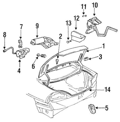 OEM 1996 Buick Skylark Lid & Components Parts