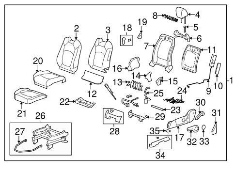 OEM 2010 Chevrolet Traverse Front Seat Components Parts