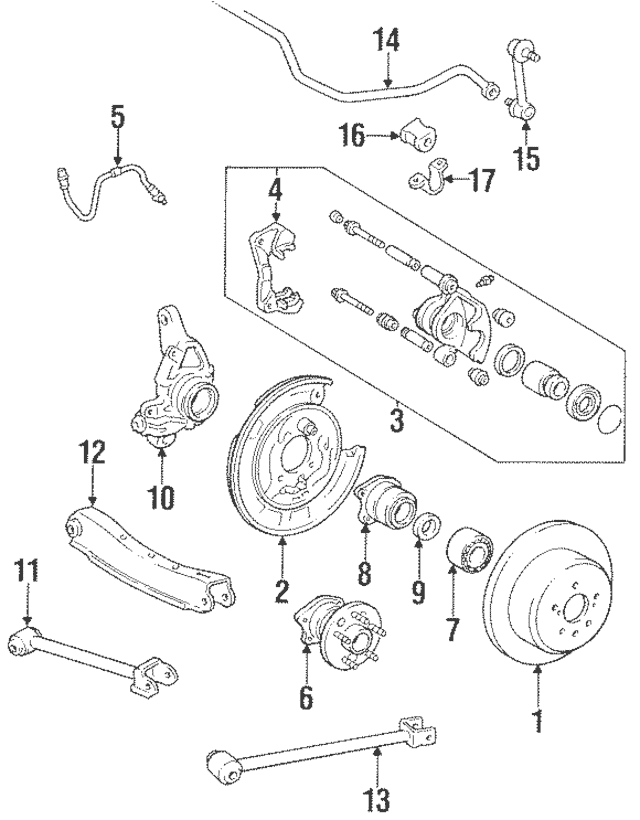1986-1991 Toyota Celica Ft Lower Control Arm 48710-20100
