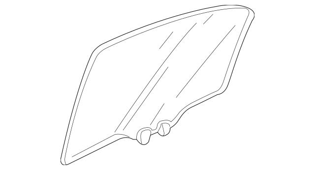 2009-2014 Acura TL SEDAN Glass Assembly, L Rear Door