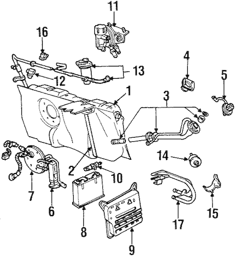 FUEL SYSTEM COMPONENTS for 2002 Ford Crown Victoria