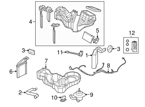 Evaporator & Heater Components for 2015 Dodge Viper