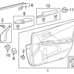 Toyota Camry Interior Parts Diagram Buderus Boiler Wiring Diagrams Genuine Oem Trim Front Door For 2013 Body 1