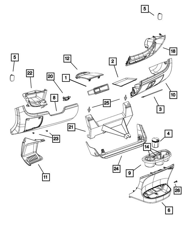 2014-2021 Ram Steering Column Opening Cover 1YB23JXWAA