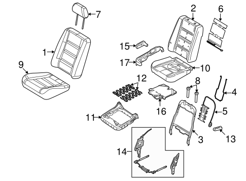FRONT SEAT COMPONENTS for 2009 Ford Taurus X