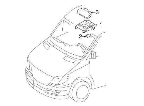 Overhead Console for 2014 Mercedes-Benz Sprinter 3500