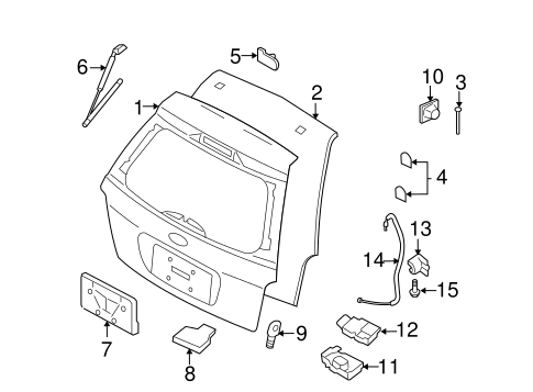 LID & COMPONENTS for 2006 Ford Freestyle