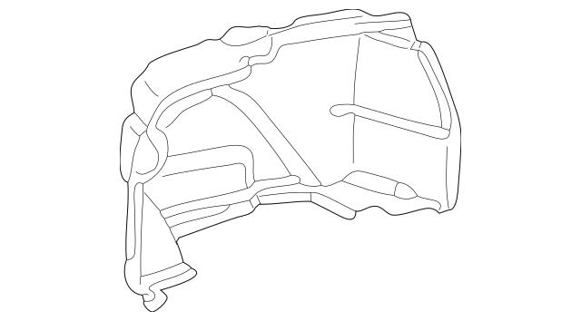 Genuine Mercedes-Benz Trunk Side Trim 215-690-58-25-9C24