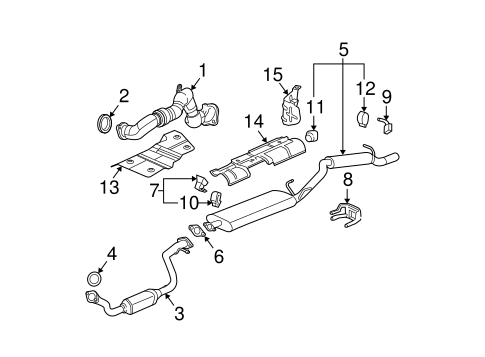 Exhaust Components for 2004 Buick Rendezvous (Ultra