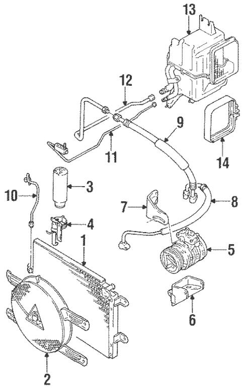 Condenser, Compressor & Lines for 1997 Suzuki Sidekick