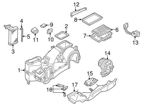 Evaporator & Heater Components for 2006 Volkswagen Golf