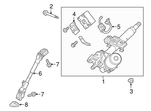 Steering Column Assembly for 2019 Chevrolet Spark