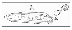 Genuine 2016 Honda PILOT 5-DOOR Light Assembly, R Front