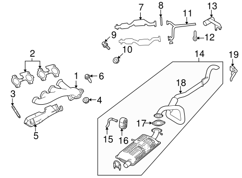 Exhaust Components for 2004 Mercury Grand Marquis