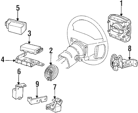 AIR BAG COMPONENTS for 1992 Ford Mustang