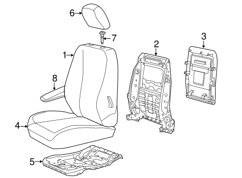 Front Seat Components for 2013 Chrysler Town & Country