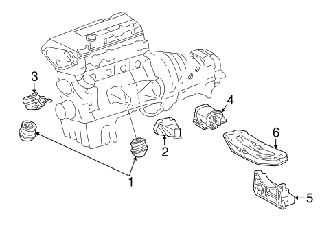 Engine & Trans Mounting for 1997 Mercedes-Benz E 420