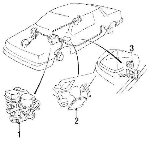 OEM Anti-Lock Brakes for 1990 Cadillac DeVille