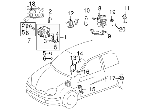 Genuine OEM Anti-Lock Brakes Parts for 2003 Toyota Prius