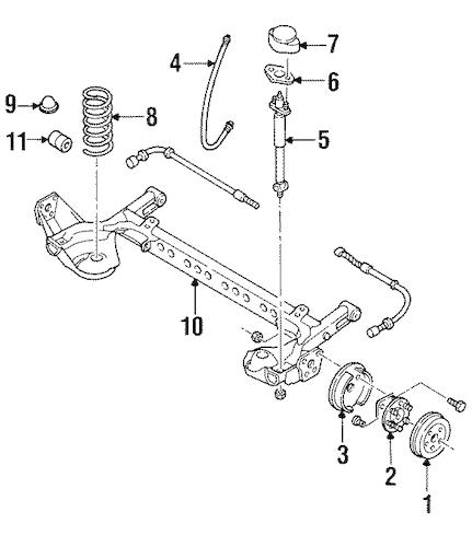 Service manual [Rear Drum Removal 1996 Chevrolet Corsica