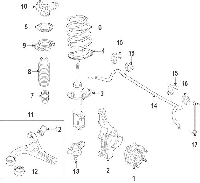 2015-2018 Kia Sedona Lower Control Arm 54500-A9100 Kia