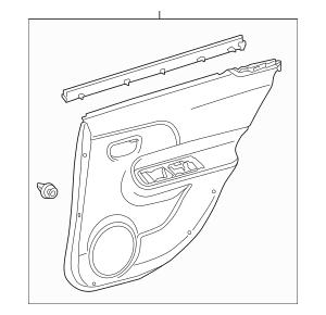 2015-2019 Toyota Prius C Door Trim Panel 67630-52W60-C0