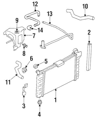 Radiator & Components for 2002 Pontiac Grand Prix
